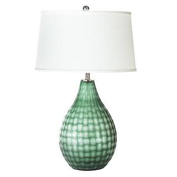 Lighting - Honeycomb Lamp - Bulb | Wisteria - emerald green lamp, emerald green glass lamp, emerald green honeycomb lamp,