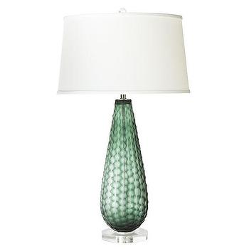 Lighting - Honeycomb Lamp -�Teardrop | Wisteria - emerald green lamp, emerald green glass lamp, emerald green honeycomb lamp,