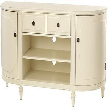 Storage Furniture - Martha Stewart Living�?� Ingrid TV Stand - Tv Stands - Home Theater Furniture - Furniture | HomeDecorators.com - cream media cabinet, curved media cabinet, ivory media cabinet