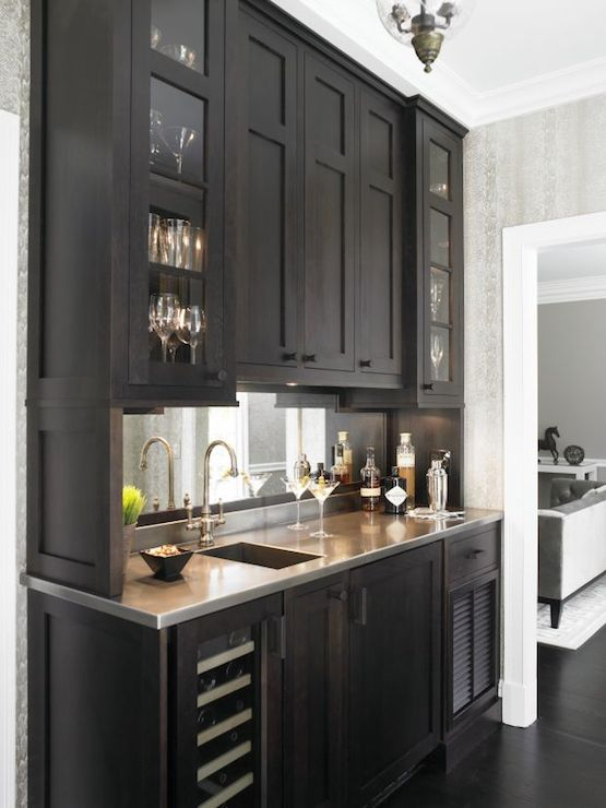 Wet Bar Ideas Transitional Kitchen Christine Donner