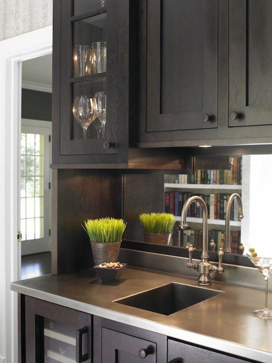 wet bar sink transitional kitchen christine donner kitchens. Black Bedroom Furniture Sets. Home Design Ideas
