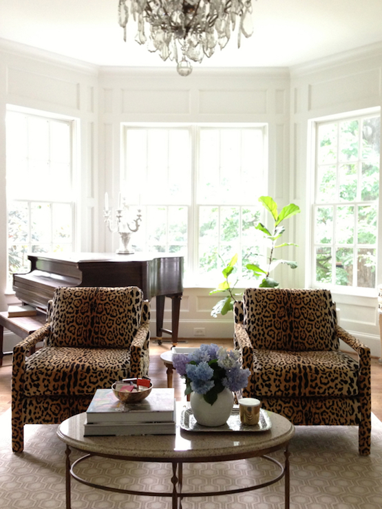 Leopard Chairs Transitional Living Room From The