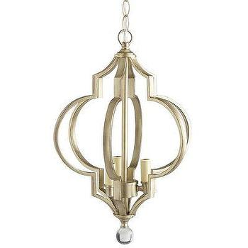 Global Views Lighting Quatrefoil Nickel Pendant I Layla Grayce