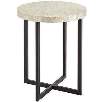 Tables - Mother-of-Pearl Accent Table I Pier 1 - inlaid mother of pearl side table, round mother of pearl side table, round inlaid accent table,