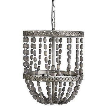 Lighting - Empire Pendant - Gray I Pier 1 - gray beaded pendant, gray beaded pendant light, distressed gray beaded pendant,