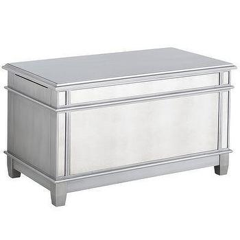 Storage Furniture - Hayworth Trunk - Silver I Pier 1 - mirrored trunk, silver mirrored trunk, mirrored storage trunk,