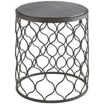 Tables - Tremont End Table I Pier 1 - moroccan trellis end table, moroccan iron end table, round moroccan end table, moroccan drum table,