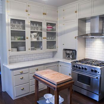 Light Grey Kitchen Cabinets, Transitional, kitchen, coco & kelley