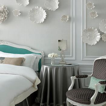Tiffany Blue Headboard, Transitional, bedroom, The St Regis New York
