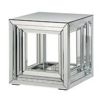 Tables - 'Side Table' Mirror Accent Table | Overstock.com - mirrored cube side table, contemporary mirrored side table, modern mirrored side table,