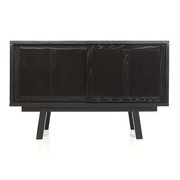 Storage Furniture - Bryant Black Small Sideboard | Crate and Barrel - black sideboard, modern black sideboard, mid century style black sideboard,