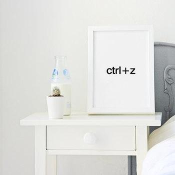 Ctrl Z quote poster print Typography Posters Home by sinansaydik I Etsy