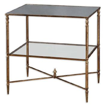 Henzler Mirrored Glass Lamp Table, Overstock.com