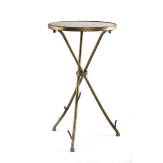 Tables - Solid Stone Top Stick End Table | Overstock.com - antique bronze end table, antiqued bronze tripod end table, antiqued bronze tripod side table