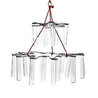 Decor/Accessories - Fish Chandelier | Crate and Barrel - test tube chandelier, glass tube chandelier, test tube bud chandelier, test tube mobile,