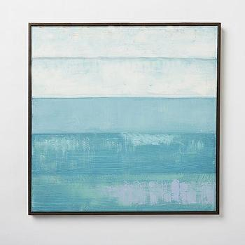 Art/Wall Decor - Color Study Painting - Sky | West Elm - blue sky abstract, blue abstract art, gradiated blue abstract art,