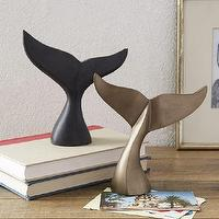 Decor/Accessories - Whale Tail Sculptures | West Elm - whale tail sculpture, whale tale decor, brass whale tail, soapstone whale tale,