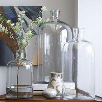 Decor/Accessories - Oversized Apothecary Bottles | West Elm - glass apothecary bottles, large apothecary vase, glass apothecary jar,