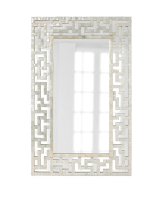 Neiman Marcus Capiz Fretwork Mirror Look for Less