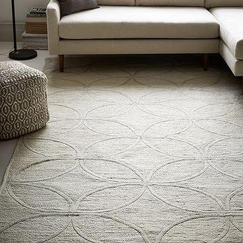Rugs - Leaf Tile Braided Jute Rug | West Elm - geometric jute rug, interlocking circle jute rug, geometric natural fiber rug, interlocking circle natural fiber rug,