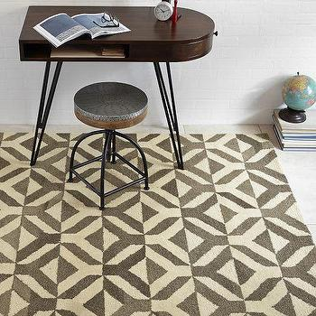 Rugs - Marquis Wool Rug - Taupe | West Elm - taupe geometric rug, taupe and cream wool rug, contemporary taupe and ivory rug,