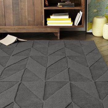 Andes Wool Rug, Slate, West Elm