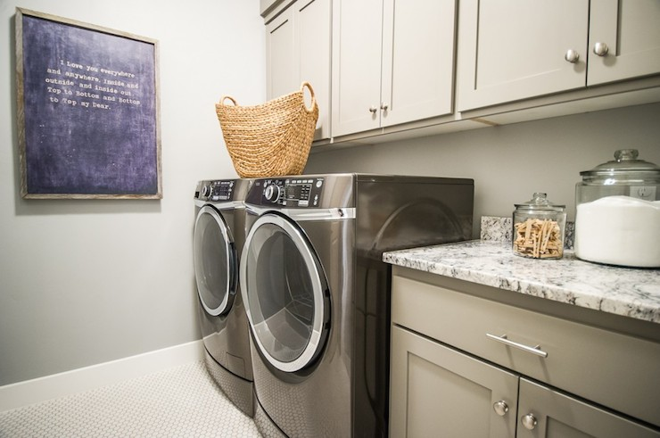 gray laundry room transitional laundry room alice