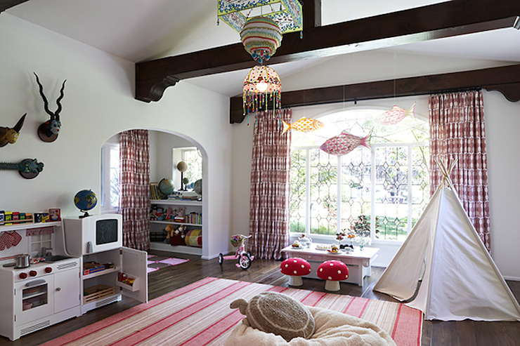 Pink Playroom Cottage Girl S Room Kristen Panitch Interiors