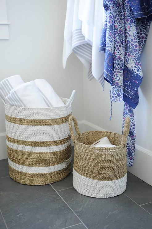 Decorating Bathroom Baskets Towels : Bathroom baskets transitional tracey ayton