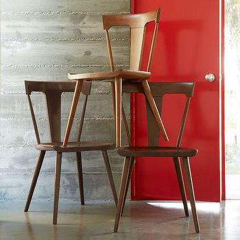Seating - Splat Dining Chair | West Elm - splat back chair, retro wooden chair, mid century style chair, backsplat chair,
