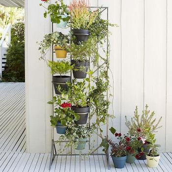 Decor/Accessories - Deco Screen Wall Planter | West Elm - vertical wall planter, vertical pot holder, plant pot screen, iron plant pot holder,