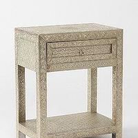 Tables - Magical Thinking Pressed Metal Table I Urban Outfitters - pressed metal side table, pressed metal accent table, engraved metal side table,