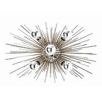 Lighting - DwellStudio Constellation Indoor/Outdoor Sconce | DwellStudio - sputnik style wall sconce, sculptural chrome wall sconce, 70s style wall sconce, seventies style wall sconce,