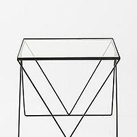 Tables - Magical Thinking Diamond Side Table I Urban Outfitters - minimalist side table, minimalist metal side table, metal glass topped side table,