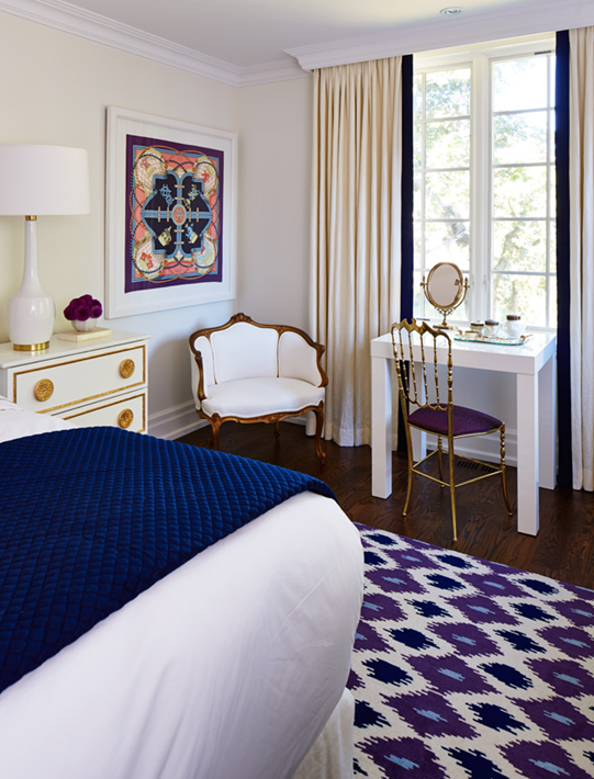 Parsons Mini Desk Transitional Bedroom The World According To Jessica Claire