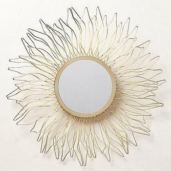Mirrors - Queen Anne's Lace Mirror I anthropologie.com - gold flower shaped mirror, gold petal framed mirror, gold sunflower shaped mirror,