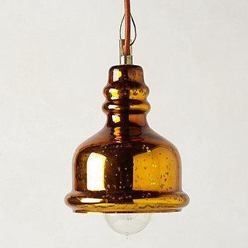 Burnished Pendant Lamp I anthropologie.com