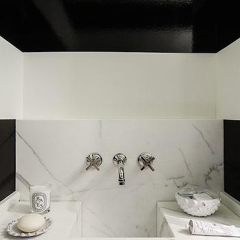 Black and White Bathroom, Contemporary, bathroom, Chambers and Chambers Architects