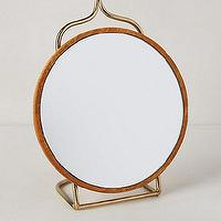 Mirrors - Loire Vanity Mirror I anthropologie.com - vanity mirror with brass stand, round mirror with brass stand, vanity mirror with brass stand,