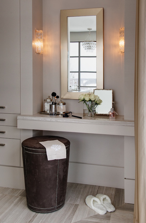 Built In Make Up Vanity Contemporary Closet
