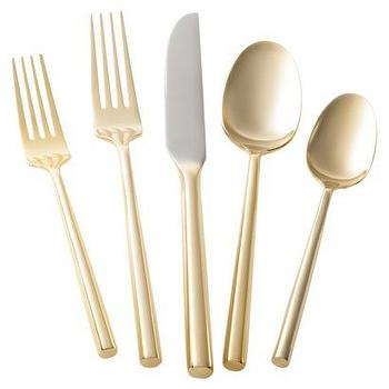 Threshold 5 Piece Izon Flatware Set, Gold I Target