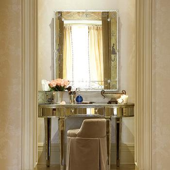 Mirrored Vanity, French, closet, Kimberley Seldon Design Group