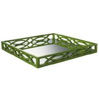 Decor/Accessories - Threshold Mirrored Tray - Green I Target - green bar tray, green fretwork tray, green mirrored tray, green fretwork mirror tray,