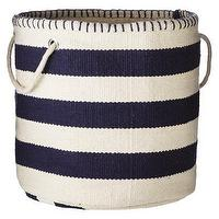 Decor/Accessories - Threshold Striped Storage Bin - Xavier Navy I Target - navy and white striped basket, navy and white striped storage bin, navy striped storage bin,