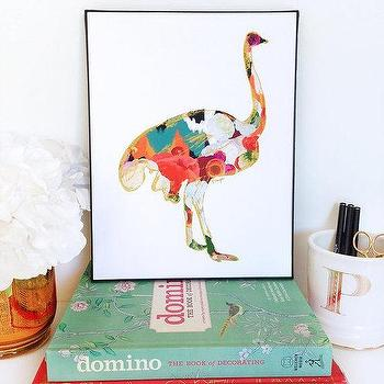Ostrich Animal Art Print Number One animal by ParimaCreativeStudio I Etsy