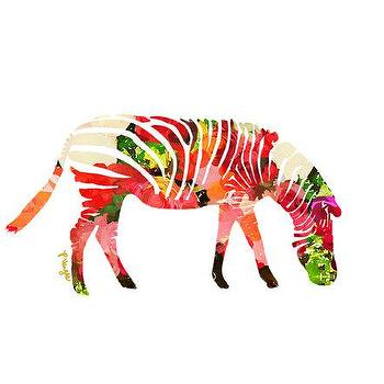 Art/Wall Decor - Zebra Animal Art Print Number Three animal by ParimaCreativeStudio I Etsy - modern zebra art, floral zebra art print, pink floral zebra art,