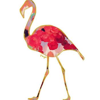 Art/Wall Decor - Flamingo Animal Art Print Number One by ParimaCreativeStudio I Etsy - floral flamingo art, pink floral flamingo art, pink floral flamingo art print,