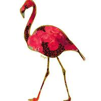 Art/Wall Decor - Flamingo Animal Art Print Number Two by ParimaCreativeStudio I Etsy - flamingo art, pink and gold flamingo art, contemporary flamingo art,