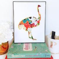 Art/Wall Decor - Ostrich Animal Art Print Number One animal by ParimaCreativeStudio I Etsy - ostrich art, modern ostrich art, colorful ostrich art, multi colored ostrich art,