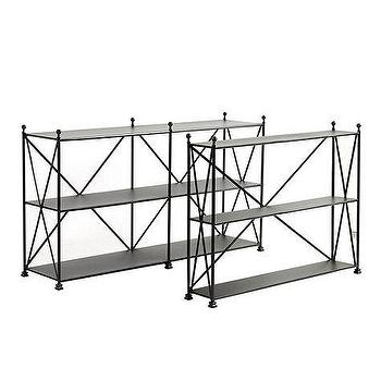 Storage Furniture - Castellon Console | Ballard Designs - metal console table, iron console table, x sided iron console table,
